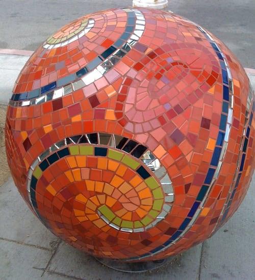 Public Mosaics by True Mosaics Studio seen at Ocean Avenue and Grenada, San Francisco, San Francisco - Sun Spheres