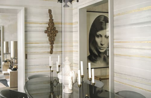 Wall Treatments by Callidus Guild at Paris Apartment, Paris - Bespoke Wallcovering