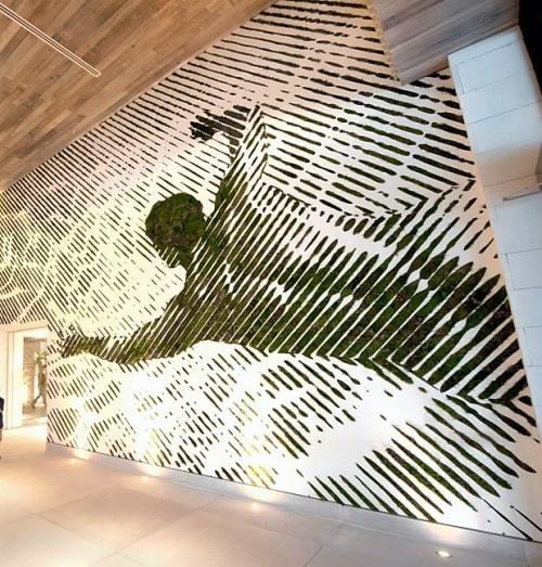 Murals by 2Alas seen at 1 Hotel South Beach, Miami Beach - Moss Art