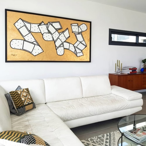 """Paintings by Dede Bandaid seen at Private Residence, Nice - 'Bandaid Tango"""" Painting"""