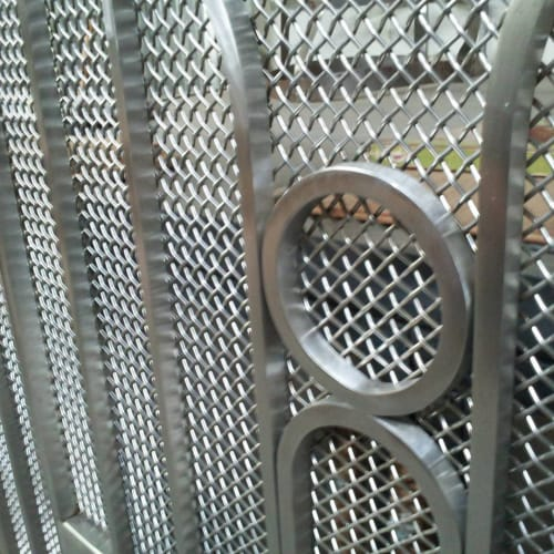Sculptures by Iron Maverick seen at Private Residence, San Francisco - Stainless Steel Gate