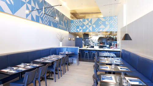 Murals by Mark Hagen seen at PIZZANA, Los Angeles - Ceramic Tiles Mural