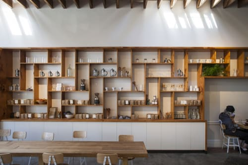 Furniture by Alex Palecko seen at The Mill, San Francisco - Custom Shelving