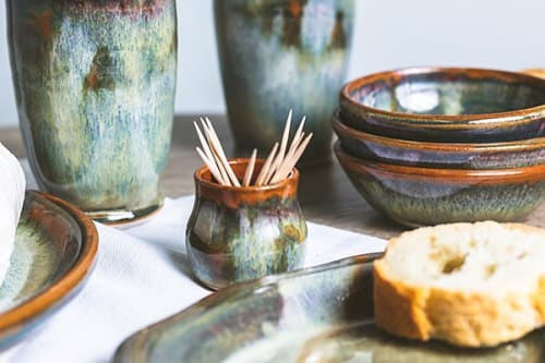 Tableware by Sunset Canyon Pottery at Sunset Canyon Pottery, Burnet Road, Austin, TX, United States, Austin - Nebula