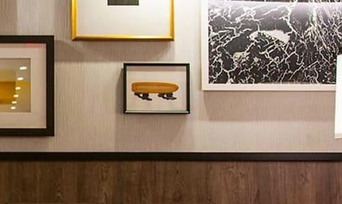 Paintings by Dan Bina seen at Kimpton Mason & Rook Hotel, Washington - Corn Lobbyists