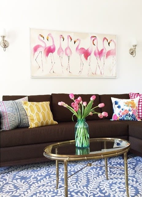 Paintings by Rachel Brown at Private Residence, Los Angeles - Birds of a feather...
