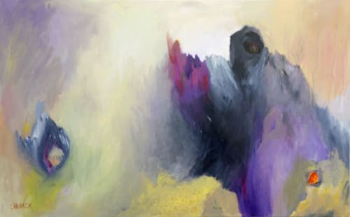Paintings by Julie Shunick Brown seen at Private Residence, Houston - Abstract Painting