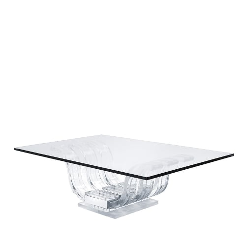 Tables by Lalique seen at Montage Beverly Hills, Beverly Hills - Perles D'Eau Coffee Table