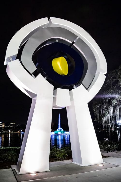 Public Sculptures by CJRDesign at Lake Eola, Orlando - Centered