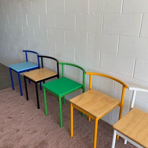 Chairs by Amigo Modern seen at Capri Hotel, Ojai - Snack Chair Arc Back