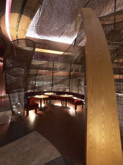 Furniture by Kenneth Cobonpue seen at Nobu Atlantis, The Palm Jumeirah, Dubai, Dubai - Restaurant Wall Canopy