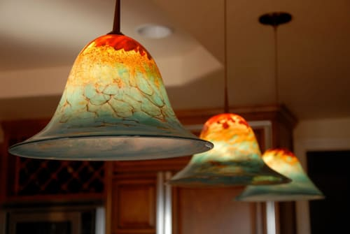 Pendants by Lea de Wit seen at Private Residence, Solana Beach - Custom Lighting