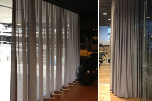 Curtains & Drapes by James Dunlop Textiles seen at 50 Albert Rd, Melbourne - Monsoon - Basalt