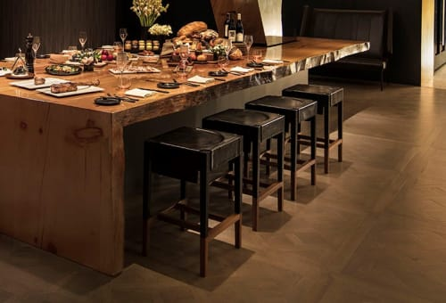 Chairs by KGBL seen at La Boucherie, Los Angeles - Cassius Barstool