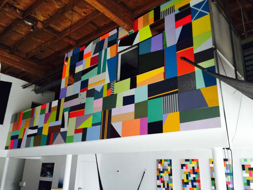 Murals by Leah Rosenberg seen at M-Rad Architecture, Culver City - Wallscape
