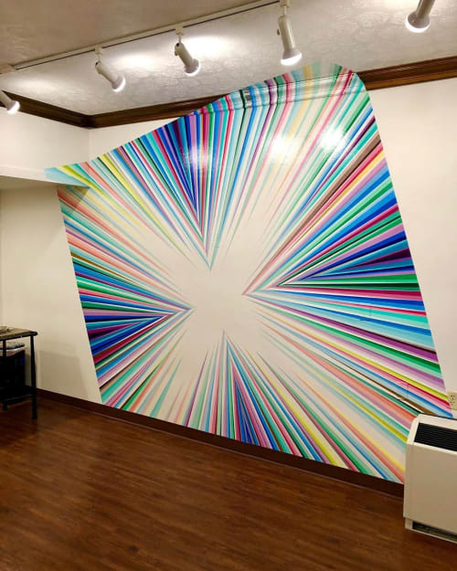 Murals by Gibbs Rounsavall Artist seen at Galt House Hotel, A Trademark Collection by Wyndham, Louisville - Geometric Wall Mural
