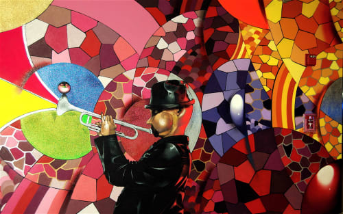 Murals by Chor Boogie at Palm Avenue Parking Garage, Sarasota - The Session