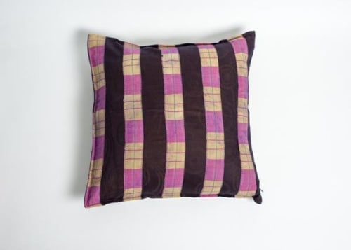 Pillows by Petel Design seen at Pinhole Coffee, San Francisco - Handwoven Pillows