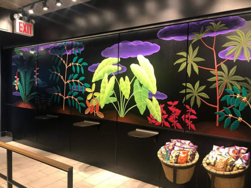 Murals by Amy Lincoln at Starbucks, New York - Mural for Starbucks