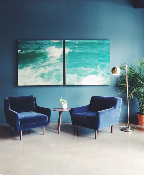 Paintings by Christine Flynn seen at North Medical Spa, Toronto - Ocean