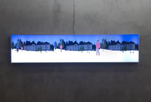 Art & Wall Decor by Kota Ezawa seen at UCSF Medical Center at Mission Bay, San Francisco - Hotel Movies