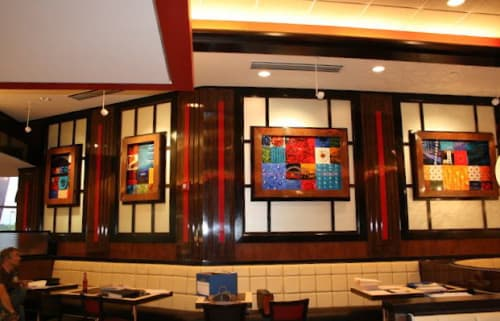Murals by Coral Bourgeois seen at Big View Diner, Charlotte - Murals