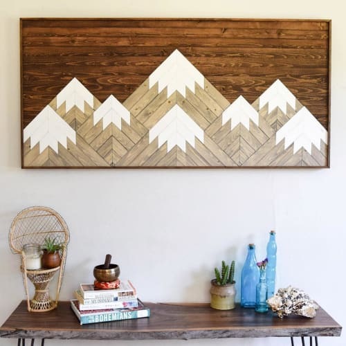 Wall Hangings by Roaming Roots at Private Residence, Norman - Mountain Wall Art