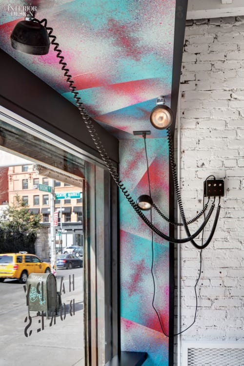 Murals by Jason Woodside seen at Happy Bones, New York - Entrance Mural