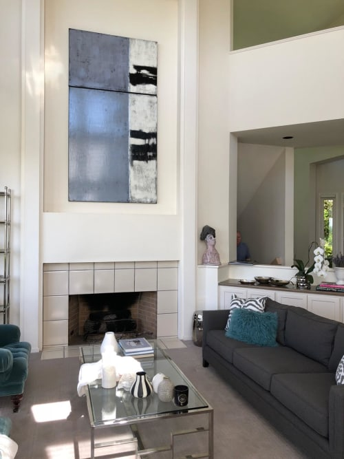 Paintings by Candace Primack Art seen at Private Residence, Portland - Diptych