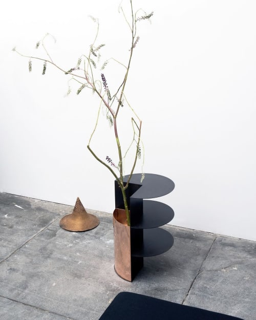 Tables by Birnam Wood Studio seen at Private Residence, New York - Total Garbage Planter Table