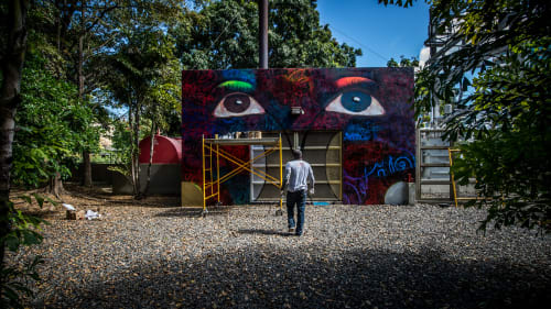 Murals by Chor Boogie seen at Museo De Arte De Puerto Rico, San Juan - The Eyes of Puerto Rico