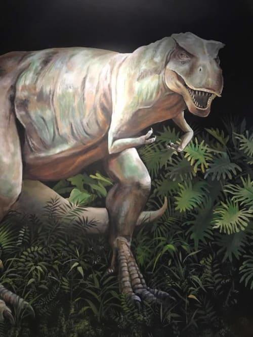 Murals by John Votel seen at Lost Worlds Adventures, Livermore - Dinosaur Mural