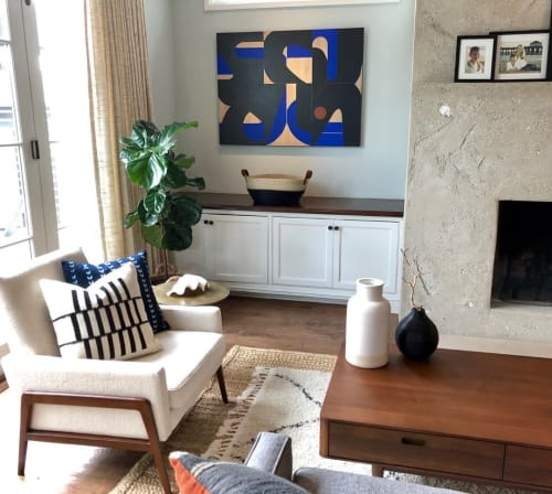 Paintings by TS ModernArt Studio seen at Private Residence, Manhattan Beach - City Of Stars