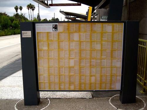 "Murals by Sandow Birk + Elyse Pignolet at Tampa Orange Line Station, Los Angeles - ""Tarzan and Tarzana"""