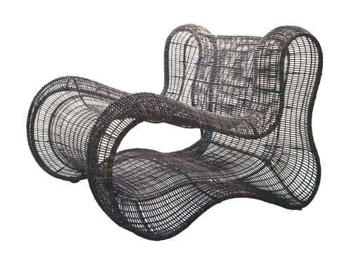 Chairs by Kenneth Cobonpue at Palacio Duhau - Park Hyatt Buenos Aires, Argentina, Recoleta - Pigalle Easy Armchair