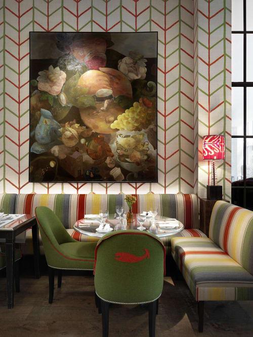 Paintings by Joe Fan seen at Crosby Street Hotel, New York - Vivid Painting
