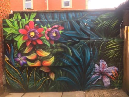 Murals by Kin Dose seen at Hobgoblin, Bristol - Mural