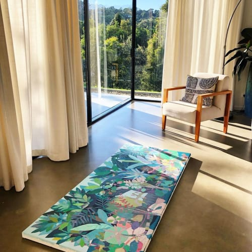 Paintings by Wild Offerings art by Tiffany Kingston seen at Private Residence, Byron Bay - The Earth Remembers You