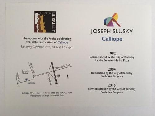 Public Sculptures by Joseph Slusky seen at Berkeley Marina, Berkeley - Calliope