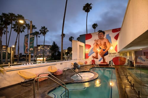 Murals by Robert Vargas seen at The Kinney Venice Beach, Los Angeles - Why Not Cannonball?