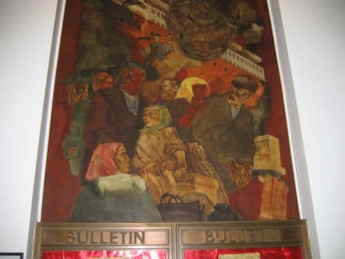 Murals by Kindred McLeary seen at United States Postal Service - Queens, Queens - Scenes of New York