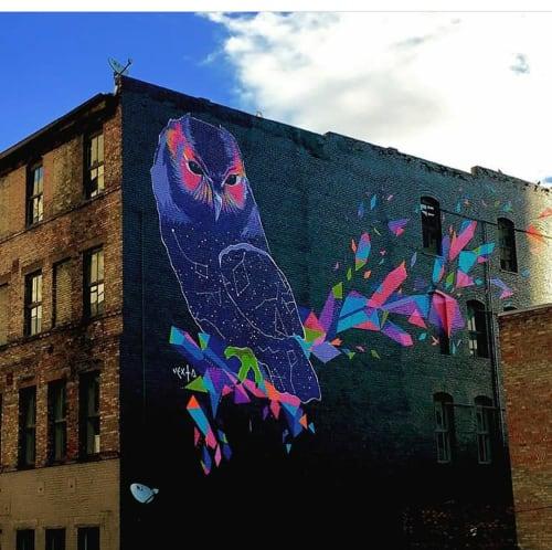 Street Murals by Yvette Vexta seen at Impact Hub Salt Lake, Salt Lake City - The Nature of Wisdom
