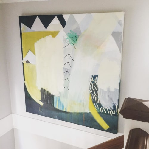 Paintings by Aliza Cohen seen at Private Residence, San Francisco - It's Raining Don't Forget To Wear a Dress