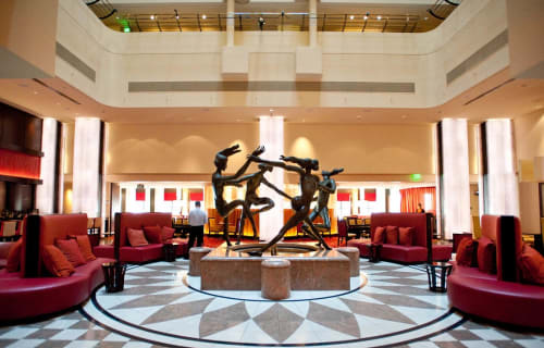 Sculptures by Elbert Weinberg seen at JW Marriott San Francisco Union Square, San Francisco - Joie de Danse