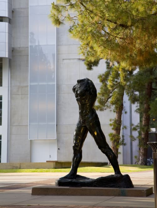 Sculptures by Auguste Rodin seen at Franklin D. Murphy Sculpture Garden, Los Angeles - The Walking Man