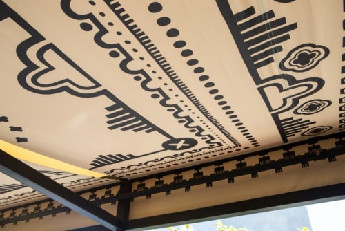 Wall Hangings by Alia Penner seen at Ace Hotel LA, Los Angeles - Bandanna-Style Awning