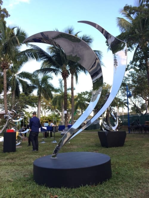 Public Sculptures by SoulArt seen at The White Room Gallery, Bridgehampton - Breath of Life
