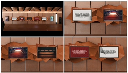 Wall Hangings by Sam Doust seen at Sydney Opera House, Sydney - Renewal Narrative