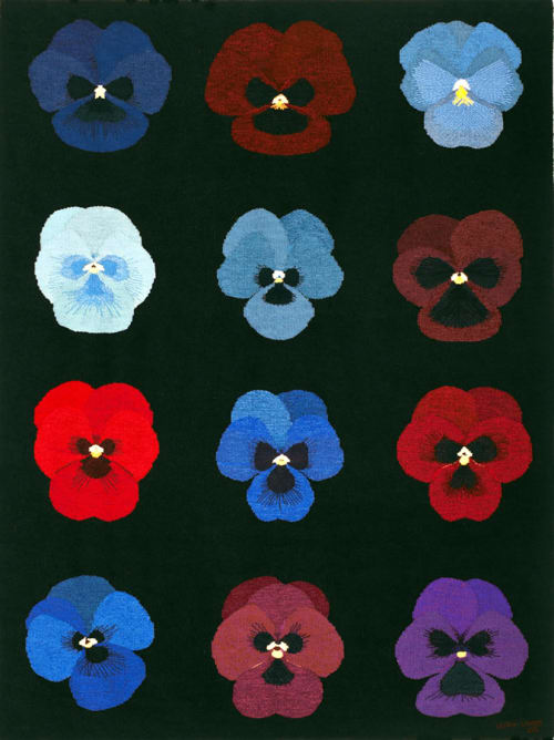 Wall Hangings by Ulrika Leander at Private Residence, Easton, MD, Easton - Pansies For Thoughts