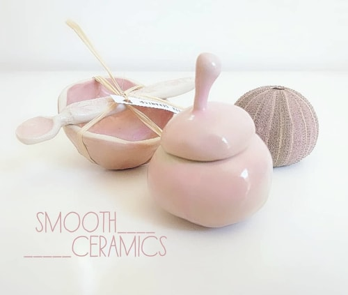 Tableware by Smooth Ceramics seen at Private Residence, North Fremantle - Handmade Ceramic Pinch Pot and Spoon